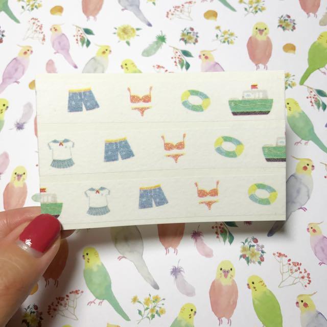 [分裝]信的戀人 夏祭系列(夏日海灘)陸製 紙膠帶