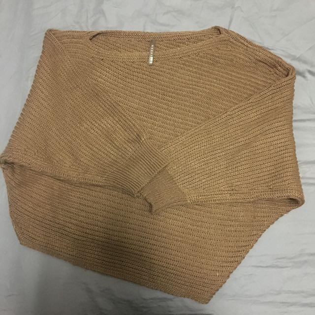 正韓 咖啡色 不規則設計感 上衣