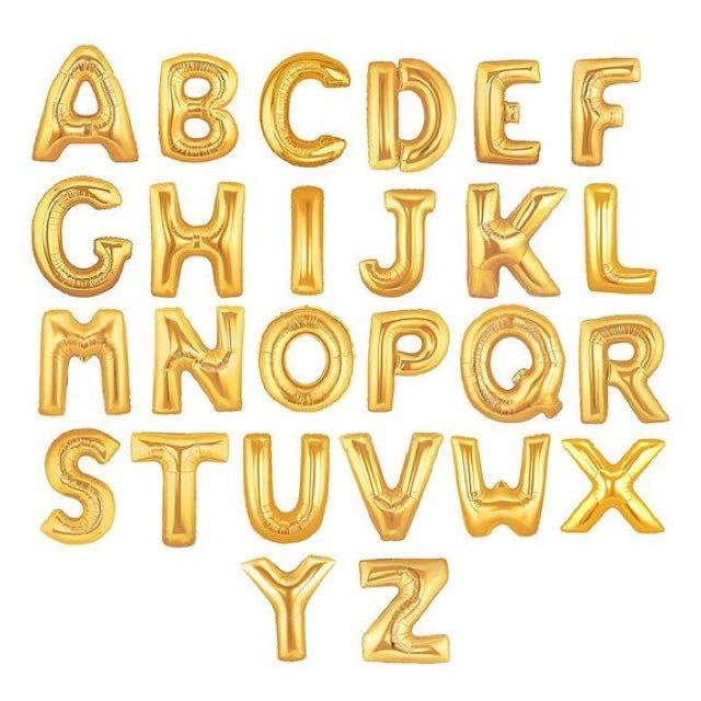 Alphabet/Numbers Foil Balloons