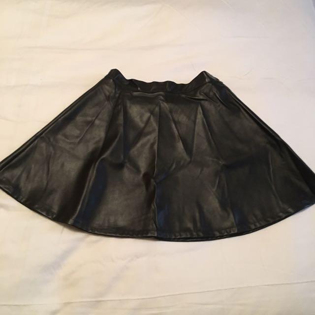 American Apparel Leather Circle Skirt