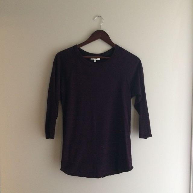 Aritzia Community 3/4 Sleeve Tunic Top