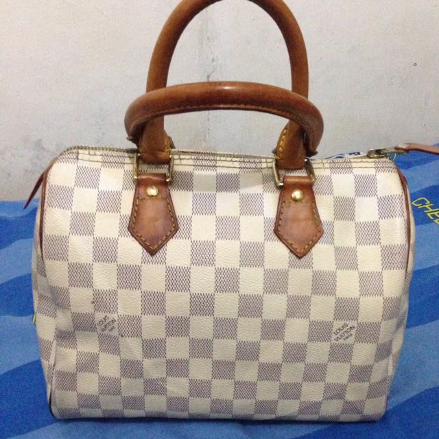 AUTH LOUIS VUITTON SPEEDY AZUR 25