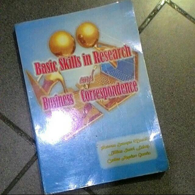 Basic Skills in Research and Business Correspondence