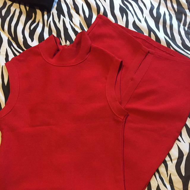 BB Dress red Midi