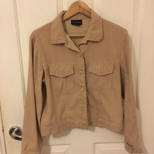 beige casual jacket