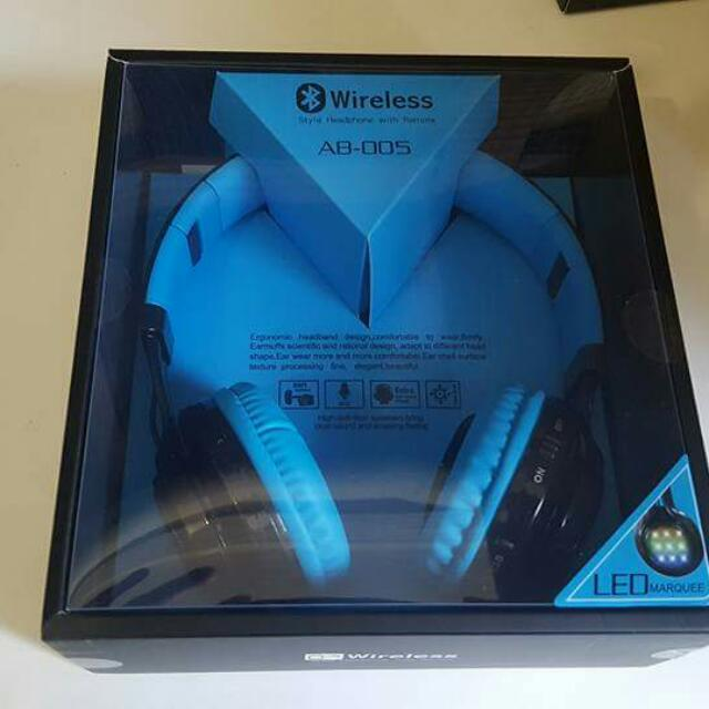 BLUETOOTH WIRELESS HEADPHONE!