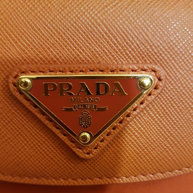 b7466935537 ... good quote your reasonable price bn brand new authentic prada tessuto  saffiano bag with strap papaya