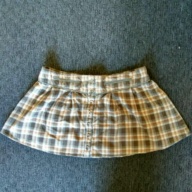 Brown Tartan Skirt