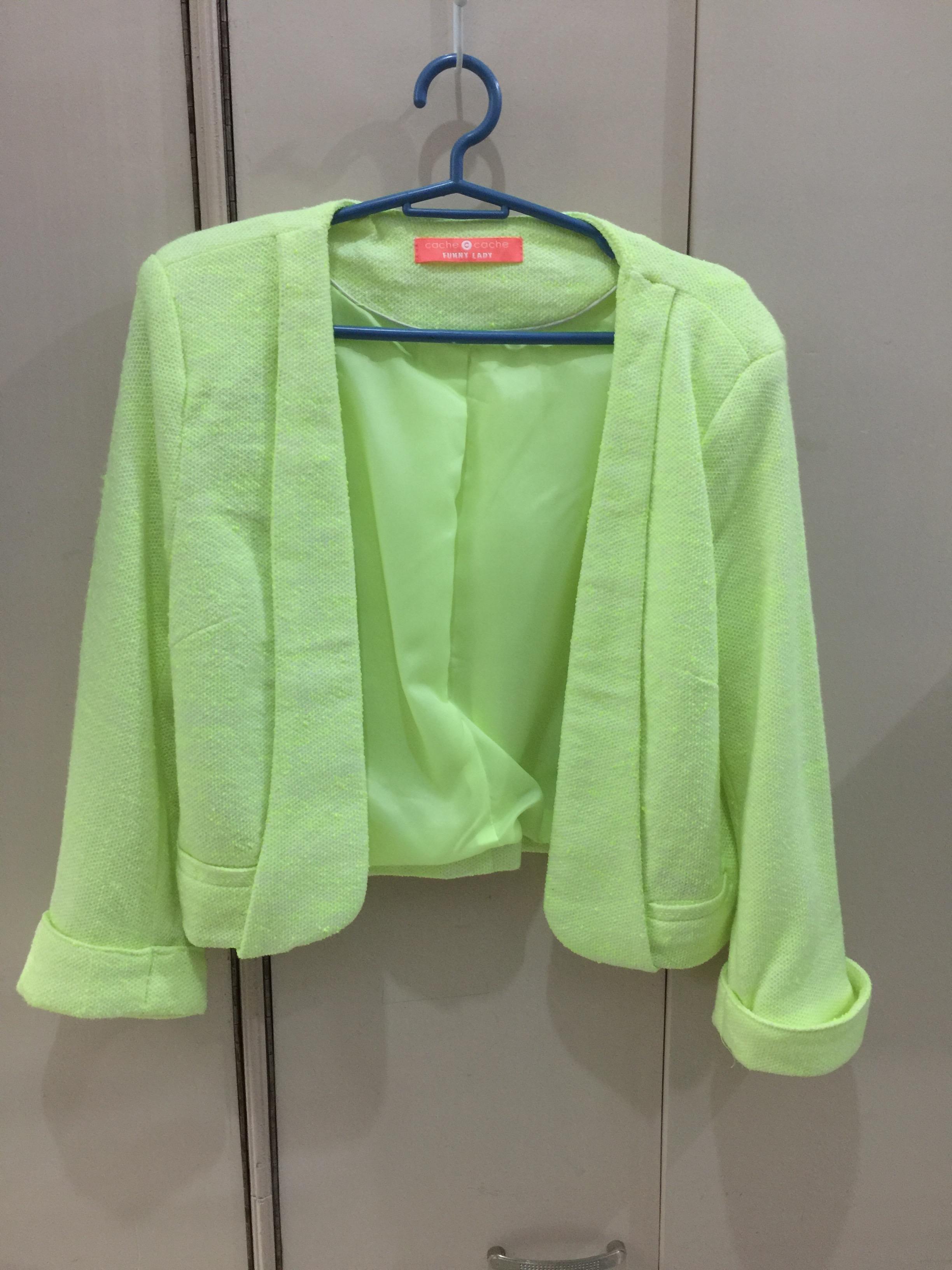 Cache Cache Blazer - Neon Green