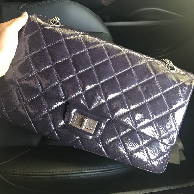 Chanel Reissue 227 Maxi Patent Authentic