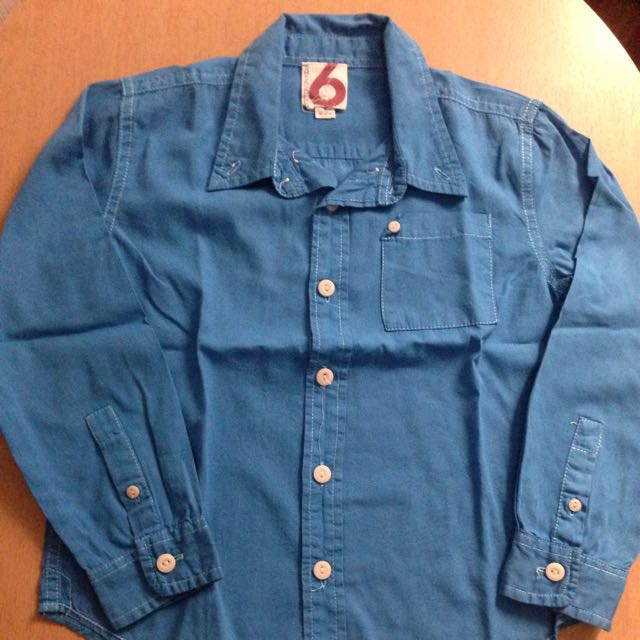 Cotton On Blue Long-sleeve Shirt