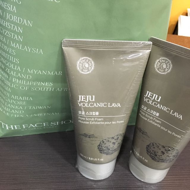 FACE SHOP JEJU CLEANSING SCRUB FOAM