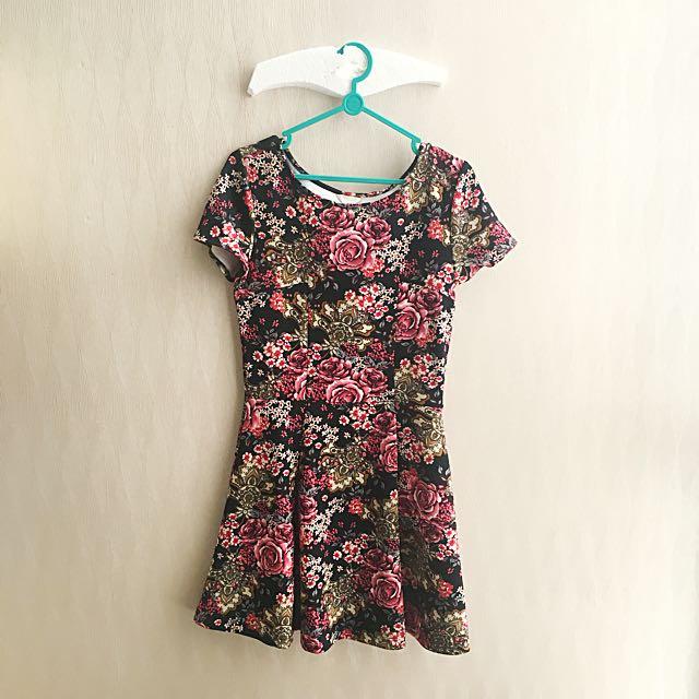 Forever21 Dress Batik Terusan Mango Hnm Style