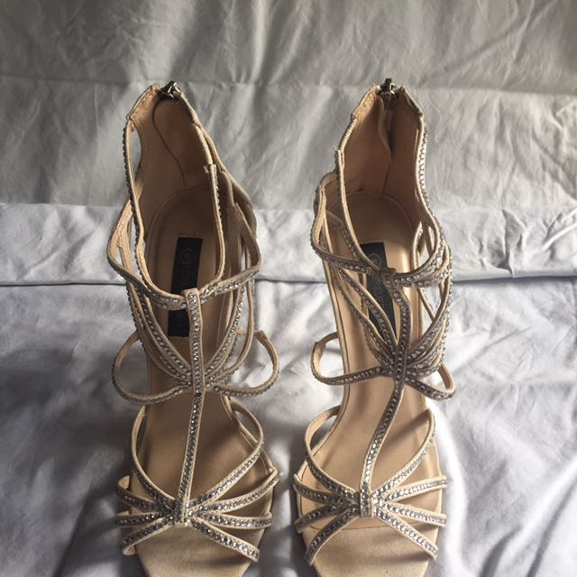 Forever New Beige Sparkly Heels