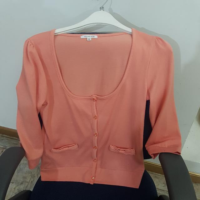 Glacier Cardigan Sweater Peach