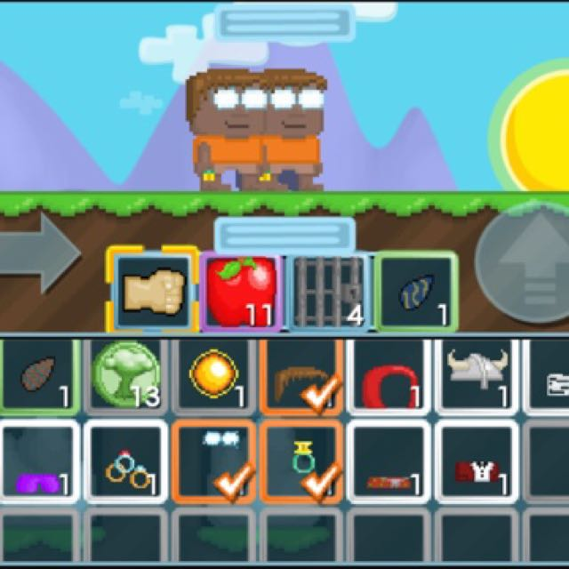 Growtopia Account With Focus Eyes And Gemini Ring on Carousell