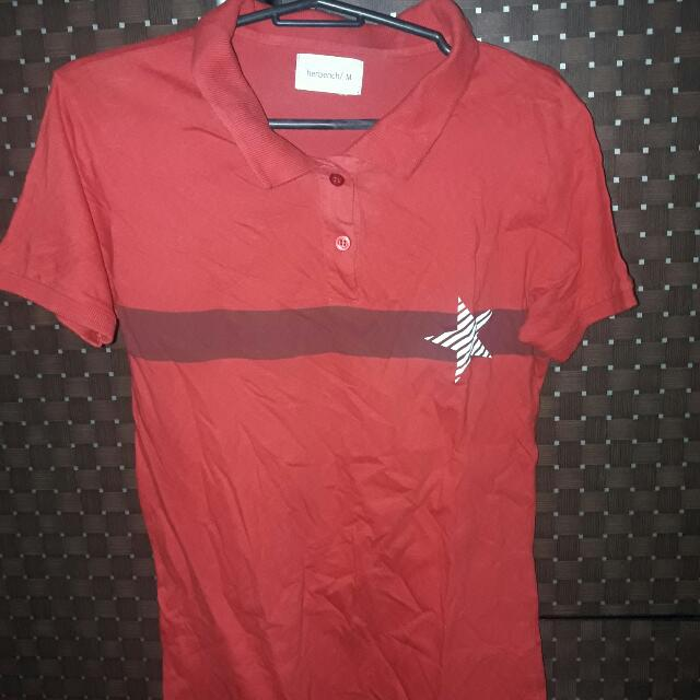 Herbench Red Poloshirt (M)