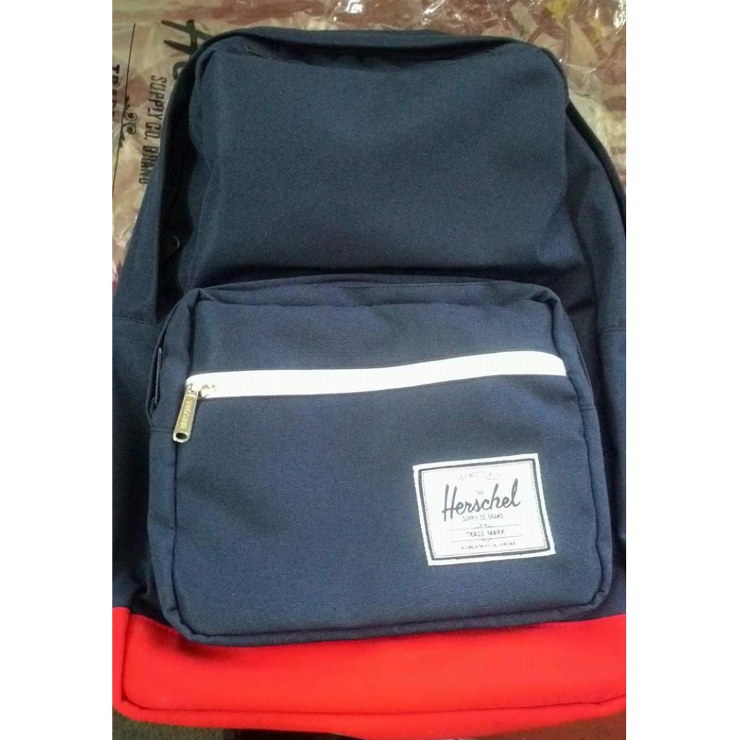 Herschel Pop Quiz Navy Blue Red