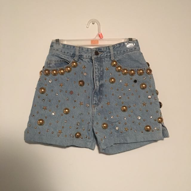 High Waisted Space Shorts