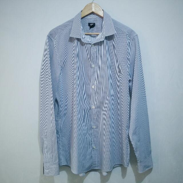 H&M Striped Long Sleeves Polo