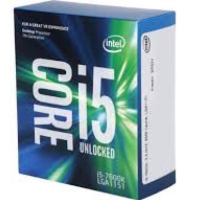 INTEL i5-7600k UNLOCKED