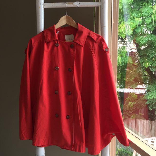 JOIE Terracotta Orange Poncho Jacket As New Size S