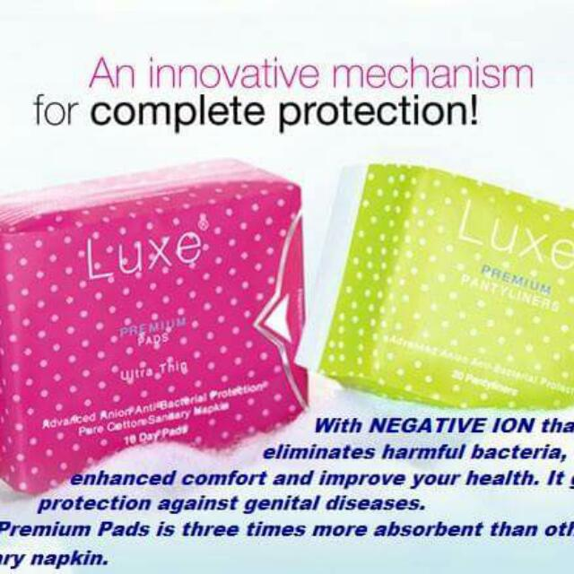 Luxe Premium Anion Pads and Pantyliners