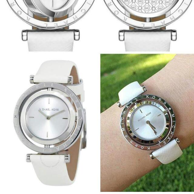 Michael kors Averi Leather Strap Watch