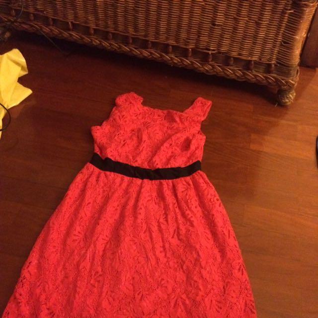 Miss Shop Pink Lace Dress Size 6