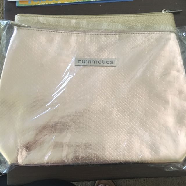 Nutrimetics Makeup Bags Large X 2