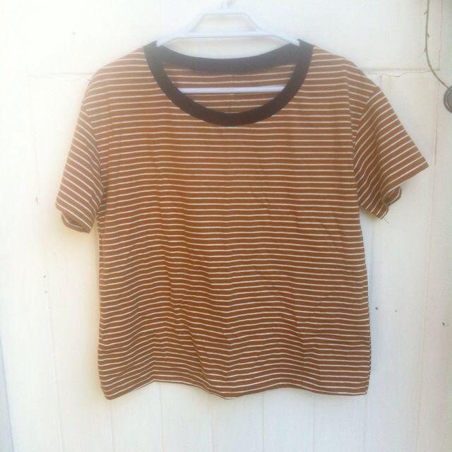 Orange/browny Stripe Tee
