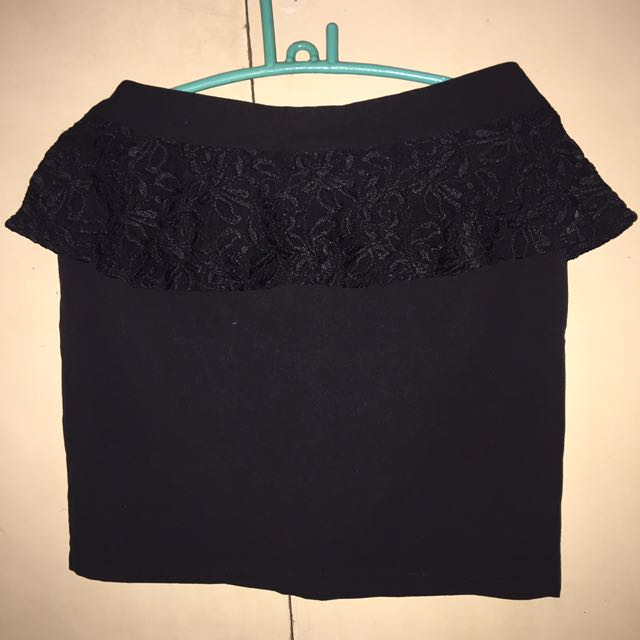 Peplum Office Skirt