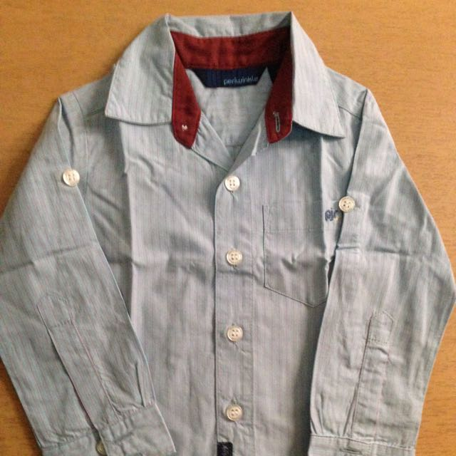 Periwinkle Blue Long-sleeve Shirt
