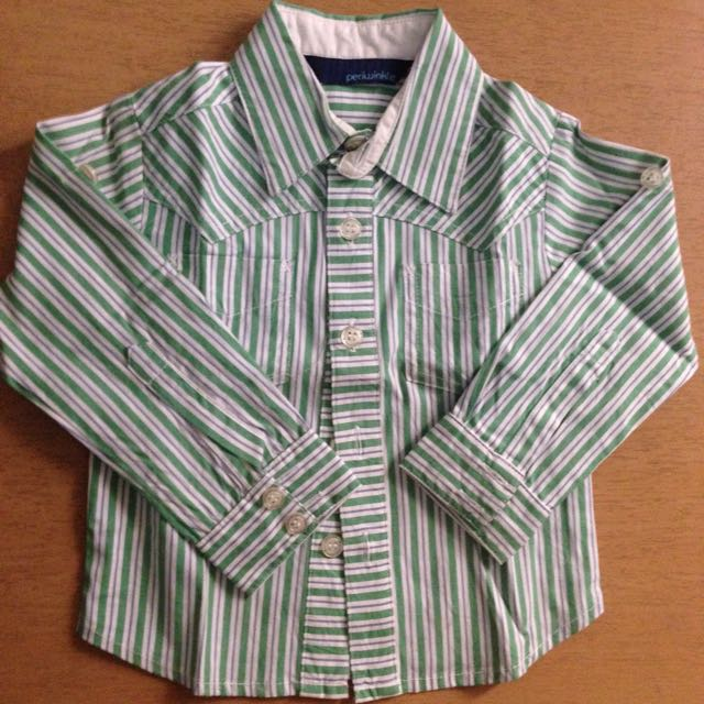 Periwinkle Stripes Long-sleeve Shirt