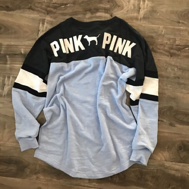 PINK Lace Up Sweater - Size Large $60