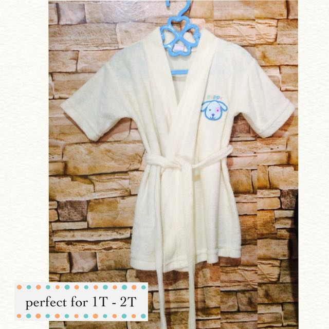 preloved baby bathrobe