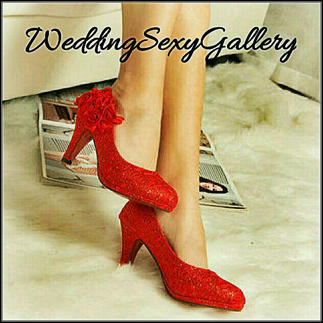 🌹◾OUT OF STOCK◾🌹 Red Wedding Shoes