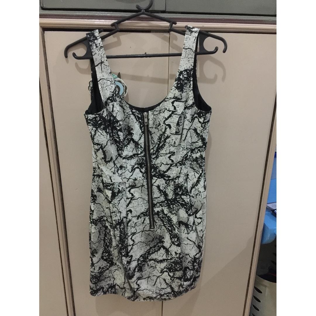 Printed Zipper Dress
