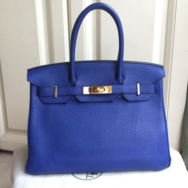 Rare Find🔥🔥Hermes Birkin 30 Blue Electric GHW Togo f31912c25