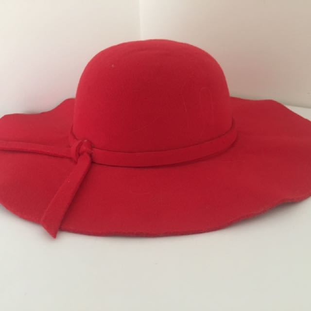 Red Broad Floppy Hat