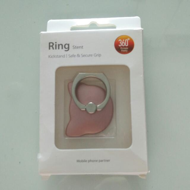 Ring Stent Cat Shape Rose gold Neko