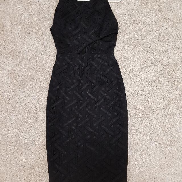 Rodeo Show black cut out pencil dress