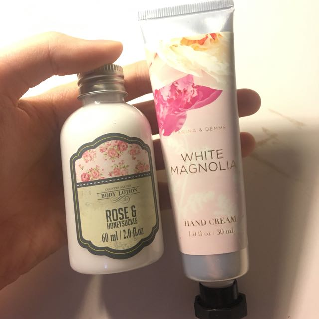 Rose Body Lotion And Hand Cream