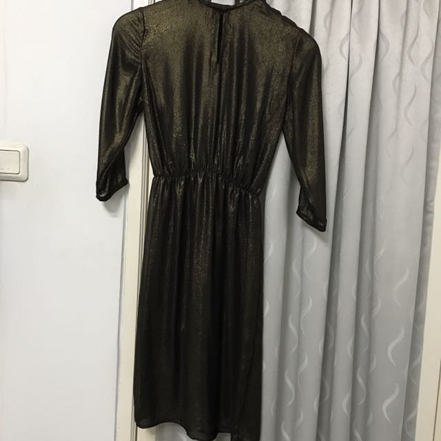 Sheer Black-Gold Dress