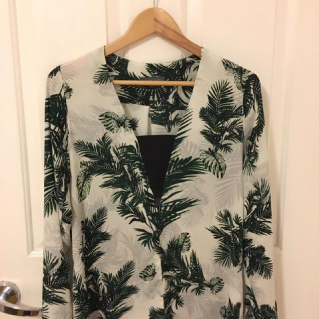 shieke palm shirt