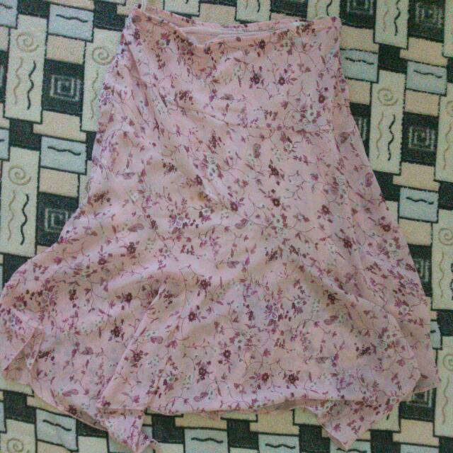 Skirt Soft Pink Flowery