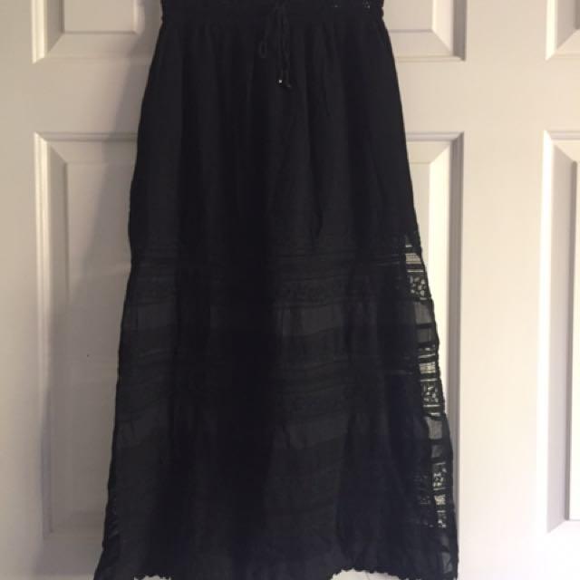 Split Lace Mid Shirt