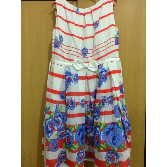 Reprice: Stripe Floral Dress