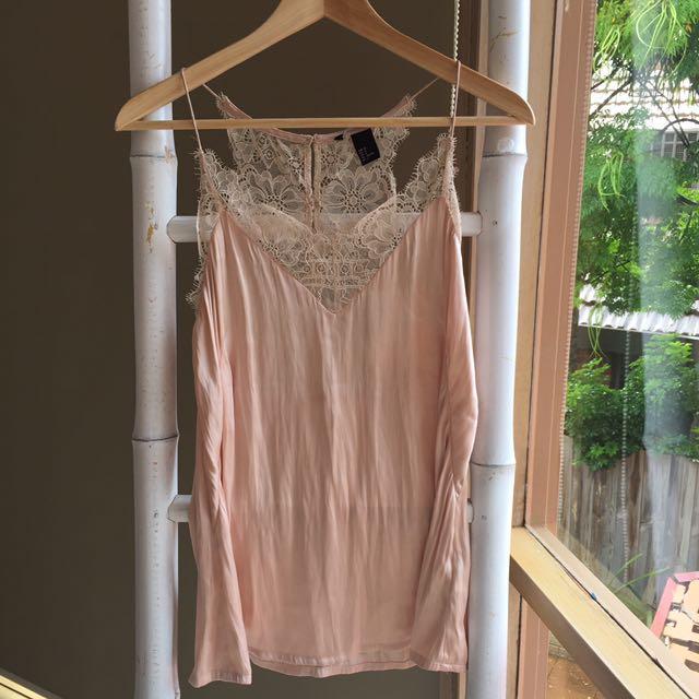 Sweet H&M Lace Camisole Sz 36 Au8-10 As New