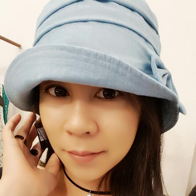 TM.s 手作帽  夏天薄料造型侍女漁夫帽
